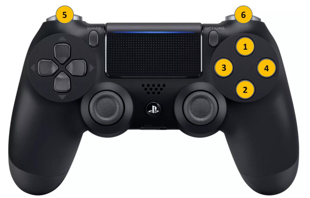 PS4 Games controller app controls